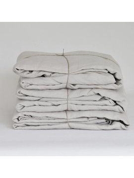Tell me more Duvet cover 100% stonewashed linen - 220x240 - light grey - Tell me more