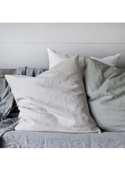 Tell me more Duvet cover 100% stonewashed linen - 220x240 - bleached white - Tell me more