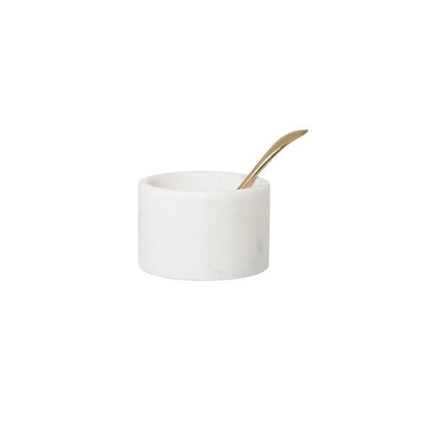 HK Living pinch pot with spoon marble hk living