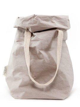 Uashmama Washable Paper Carry Bag 'Two' - Light Grey - Uashmama