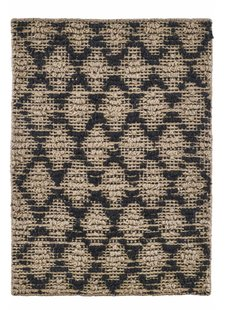 House Doctor Alfombra Harlequin - Yute - Natural y Negro - 85x130cm - House Doctor