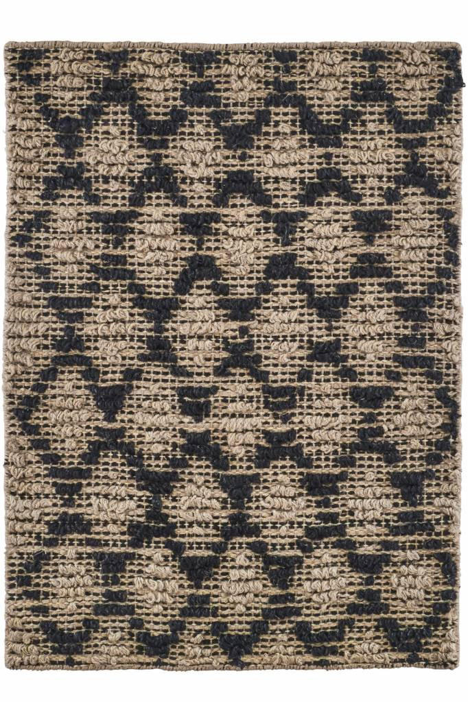 house doctor tapis harlequin jute noir naturel 85x130cm house doctor petite lily interiors. Black Bedroom Furniture Sets. Home Design Ideas