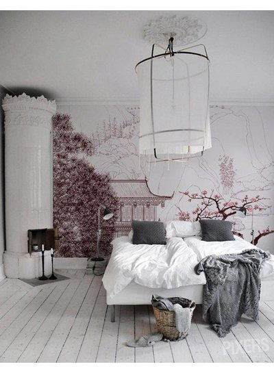 Ambiente escandinavo con un toque oriental vistas en Pinterest