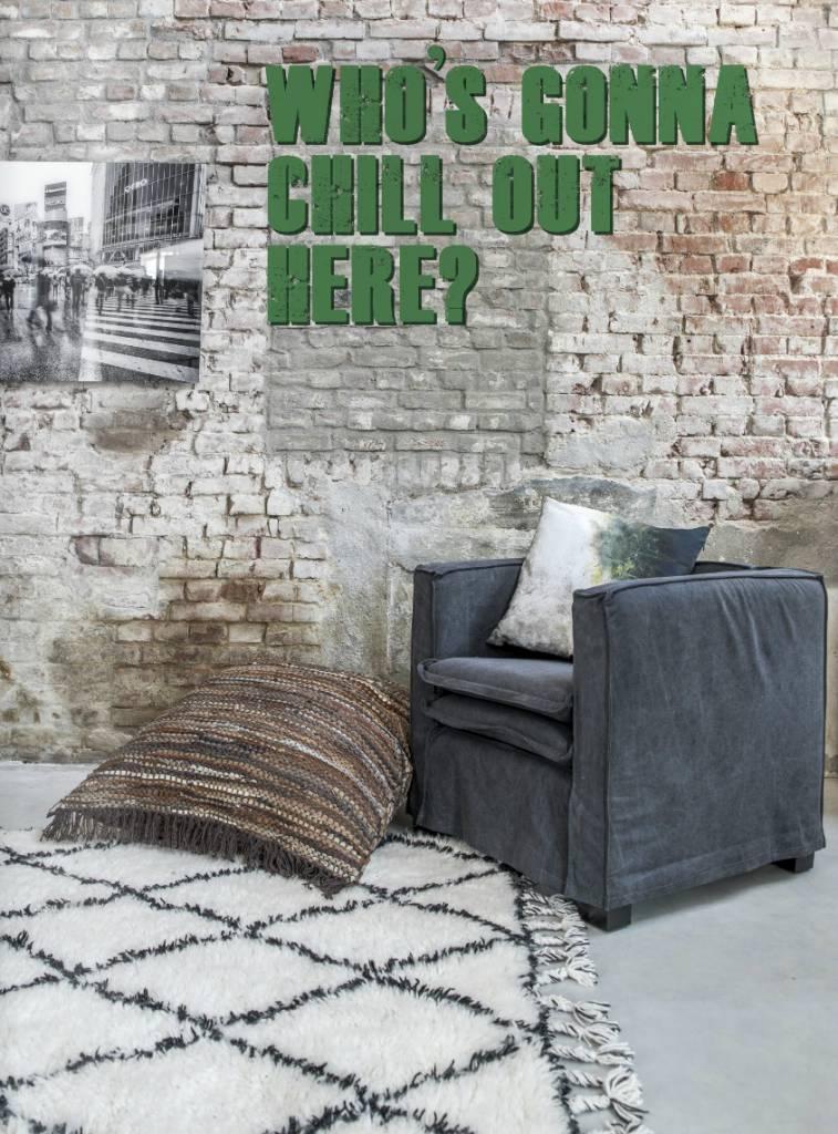 HK Living Berber rug - white with black diamond pattern - 180x280cm - HK Living
