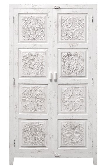 Hk Living Ethnic Wardrobe Cabinet White Hk Living