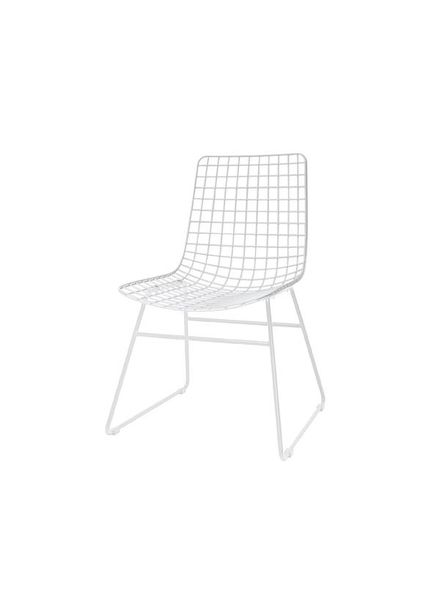 HK Living Silla Escandinava de Metal - Blanco - HK Living