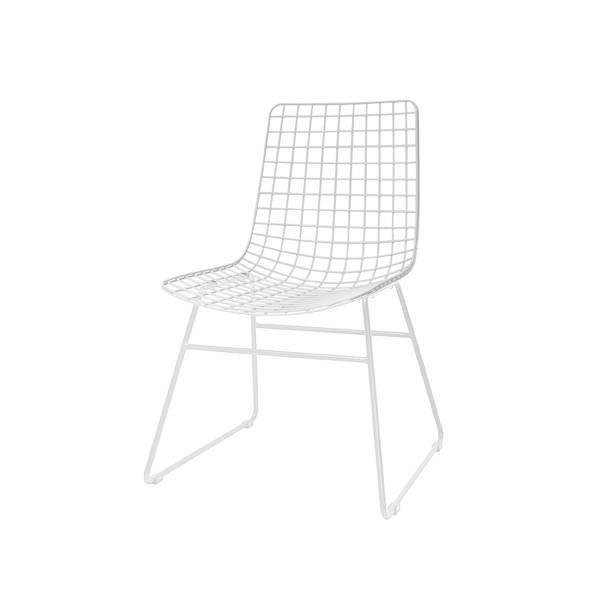 HK Living Chaise Scandinave métal blanc - HK Living