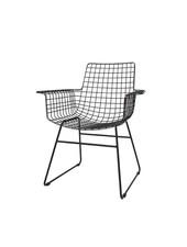 HK Living Chaise  WIRE métal à accoudoirs - noir - HK Living