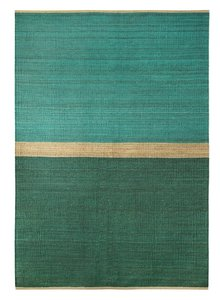 Brita Sweden Carpets Hemp Field - Green / Blue - 170x250cm - Brita Sweden