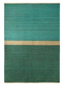 Brita Sweden Tapis 'Field' Chanvre - Vert/Bleu - 170x250cm - Brita Sweden