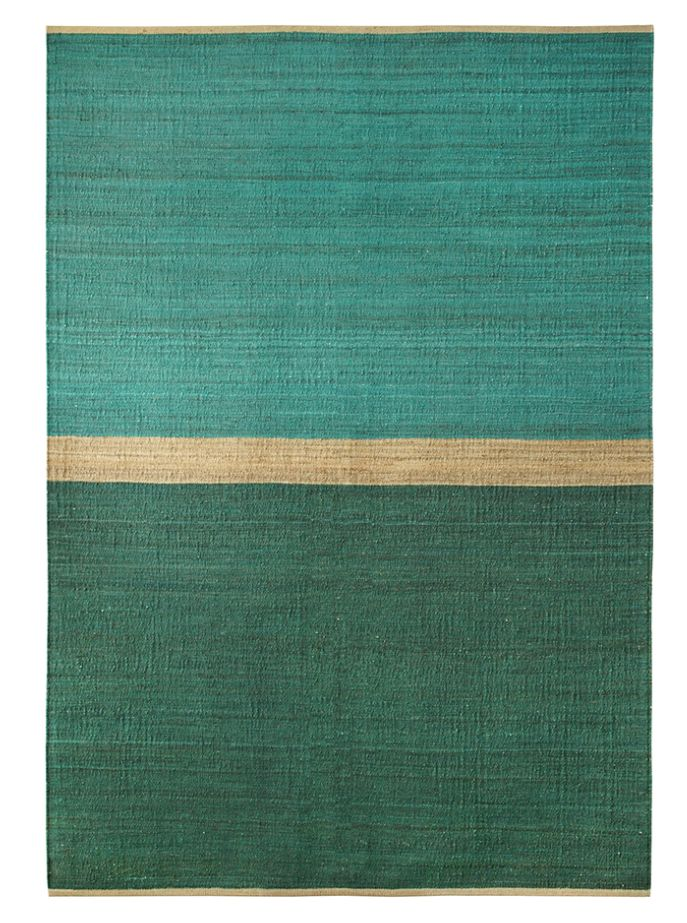 Brita Sweden Alfombra 'Field' cáñamo - Verde / Azul - 170x250cm - Brita Sweden