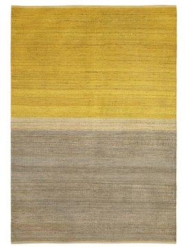Brita Sweden Alfombra 'Field' Cáñamo - Amarillo / Gris - 170x250cm - Brita Sweden
