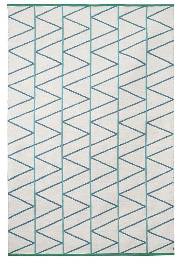 Brita Sweden Tapis 'Pine' Laine - Mineral / Bleu - 170x250cm - Brita Sweden