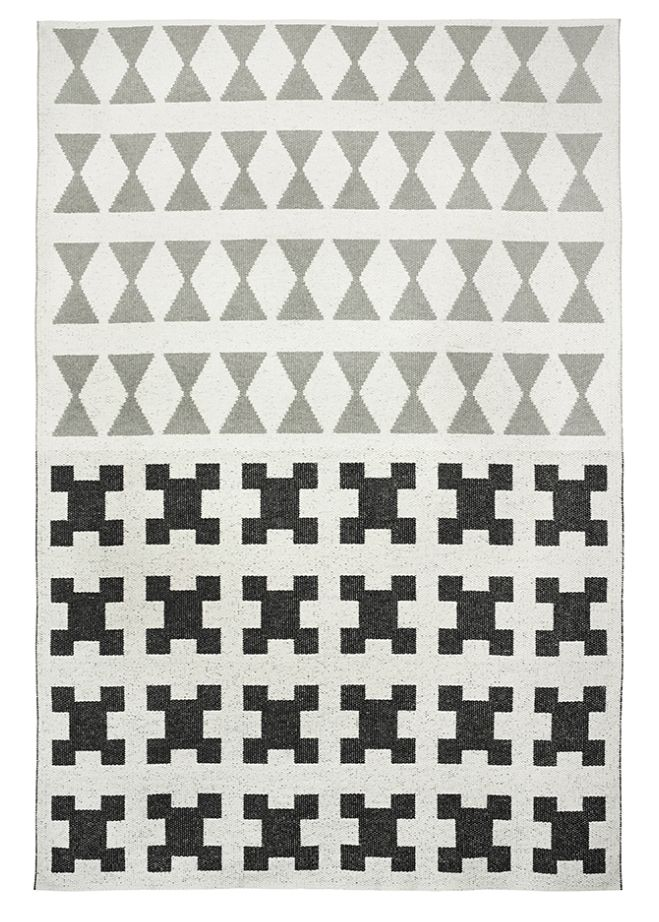 Brita Sweden Vinyl carpet 'Paris' - Black / Grey - 150x200 cm - Brita Sweden
