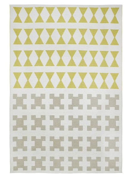 Brita Sweden Vinyl carpet 'Paris' - Yellow / Grey - 150x200 cm - Brita Sweden