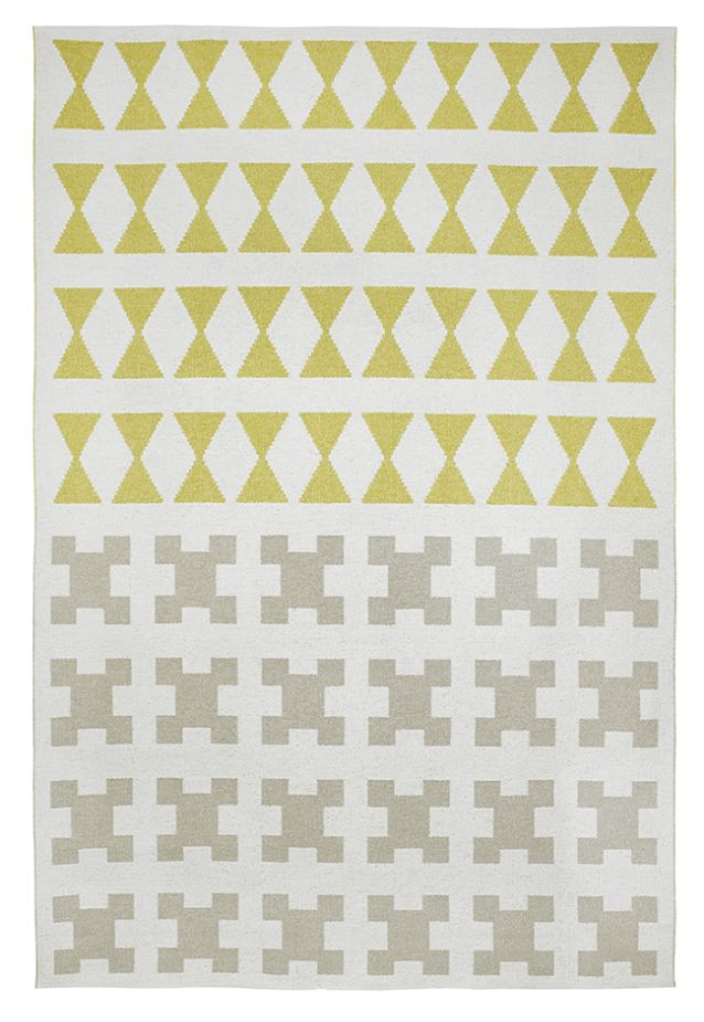 Brita Sweden Vinyl carpet 'Paris' - Yellow / Grey - 150x200 cm - Brita Sweden