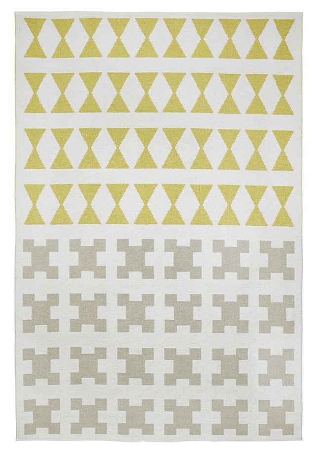 Brita Sweden Vinyl carpet 'Paris' - Yellow / Grey - 170x250cm cm - Brita Sweden