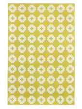 Brita Sweden Vinyl carpet 'Flower' - Yellow - 150x200 cm - Brita Sweden