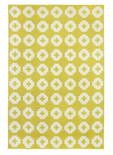 Brita Sweden Vinyl carpet 'Flower' - Yellow - 170x250 cm - Brita Sweden