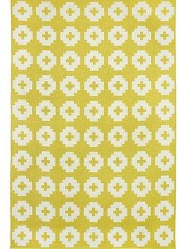 Brita Sweden Alfombra de Vinilo 'Flor' - Amarillo - 170x250 cm - Brita Sweden