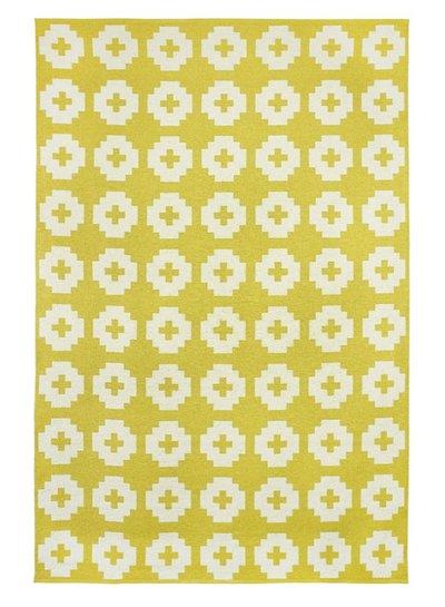 Brita Sweden Tapis de vinyle 'Fleur' - Jaune - 150x200 cm - Brita Sweden