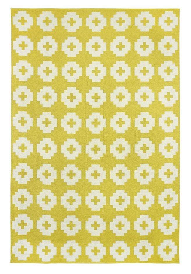 brita sweden tapis de vinyle fleur jaune 170x250 cm brita sweden - Tapis Fleur