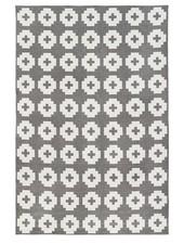 Brita Sweden Vinyl carpet 'Flower' - grey - 170x250 cm - Brita Sweden