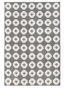 Brita Sweden Vinyl carpet 'Flower' - grey - 170x250 cm - Brita Sweden