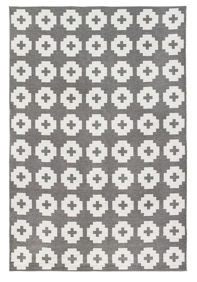 Brita Sweden Tapis de vinyle 'Fleur' - gris - 170x250 cm - Brita Sweden