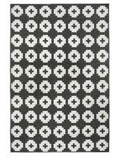 Brita Sweden Vinyl carpet 'Flower' - black - 150x200 cm - Brita Sweden