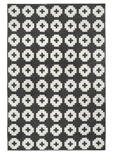 Brita Sweden Vinyl carpet 'Flower' - black - 170x250 cm - Brita Sweden