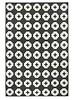Brita Sweden Vinyl carpet 'Flower' - blanc - 150x200 cm - Brita Sweden