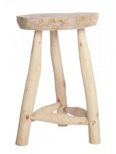 House Doctor Tabouret ethnique - Bois Naturel - Ø31cm / h48cm - House Doctor