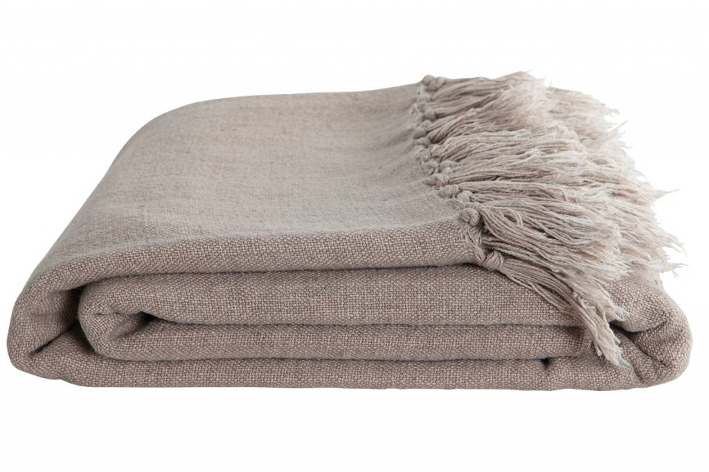 House Doctor Throw in Linen / Cotton - Brown - 200x250cm - House Doctor