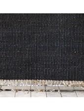 Tell me more Alfombra nordica étnica de cáñamo - negro - 80x150cm - Tell me more