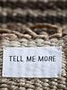 Tell me more Tapis toile de Chanvre - noir - 80x150cm - Tell me more