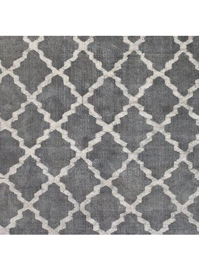 Tell me more Scandinavian rug in Stonewashed cotton - light grey - 80x200cm - Tell Me More