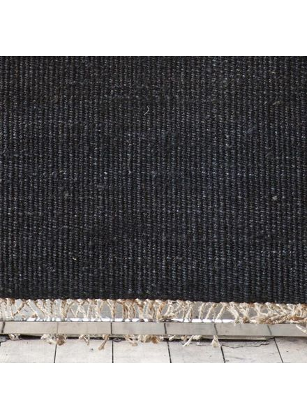 Tell me more Alfombra Nórdica Étnica de Cáñamo - Negro - 170x240cm - Tell Me More