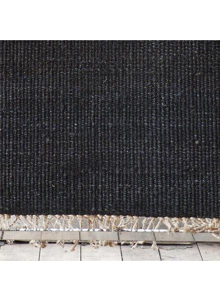 Tell me more Tapis toile de Chanvre - noir - 170x240cm - Tell me more