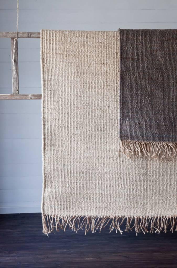 tell me more tapis toile de chanvre gris 170x240cm. Black Bedroom Furniture Sets. Home Design Ideas