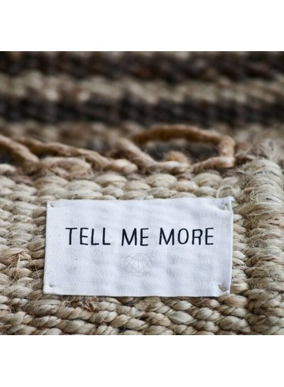 Tell me more Tapis toile de Chanvre - gris - 170x240cm - Tell me more