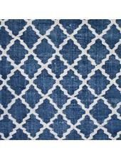 Tell me more Alfombra de algodón lavado a la piedra - Azul - 80x200cm - Tell me more