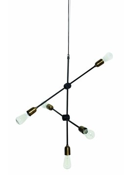 House Doctor Molecular pendant lamp - black - h78 - House Doctor
