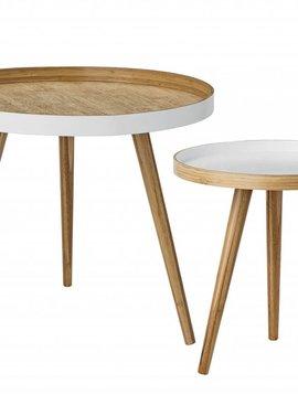 Bloomingville Set de 2 tables à café Scandinave ronde - bambou - Bloomingville