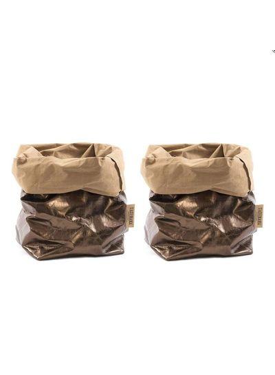 Uashmama Bolsa de papel lavable bronce - Uashmama