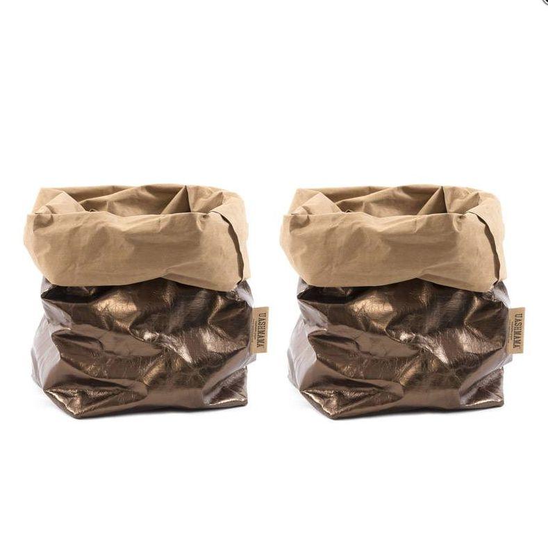 Uashmama Sac en Papier Lavable bronze marron - Uashmama