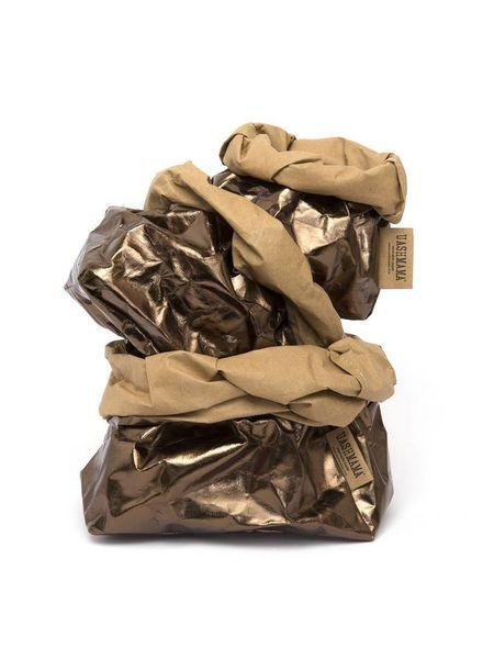 Uashmama Bolsa de papel lavable - Bronce - Uashmama