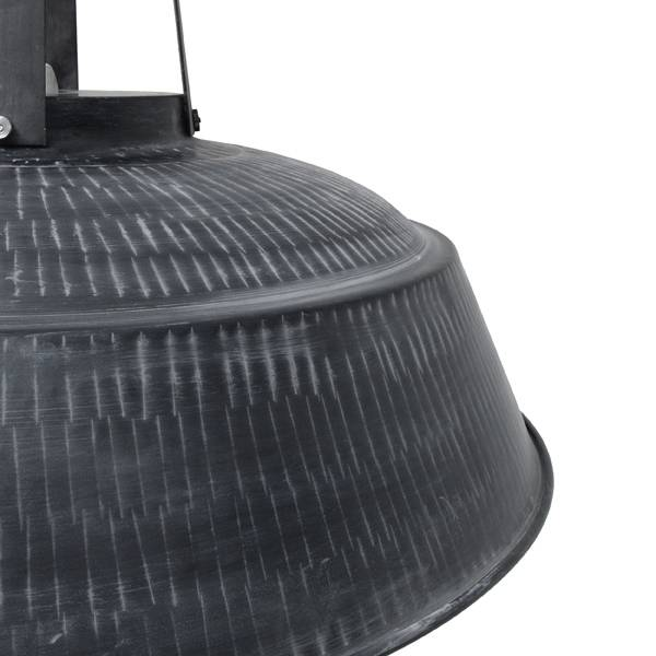 HK Living Industrial pendant lamp XL - mat black metal - Ø74 - HK Living