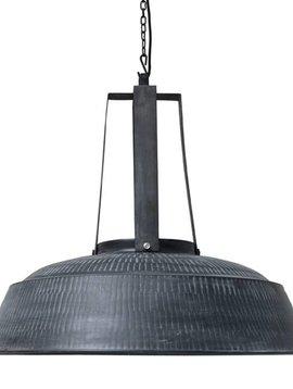 HK Living Lampe suspension industrielle XL - métal noir mat - Ø74 - HK Living
