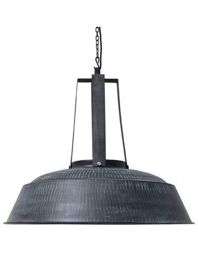 HK Living Industrial pendant lamp XL - mat black metal - Ø74 - HK Living